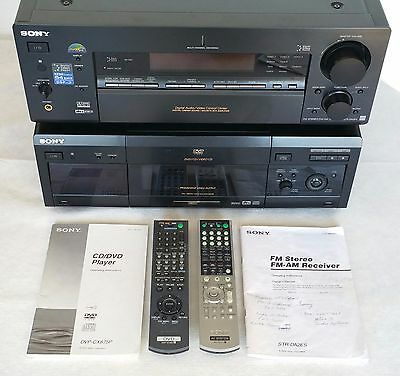 Sony Receiver STR-DA2ES & Sony DVD DVP-CX875P & Monster Power HTS1000 + Cables+