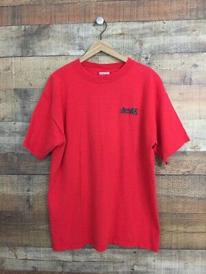COCA COLA T-Shirt Large Red Embroidered Logo Coke Shirt O122