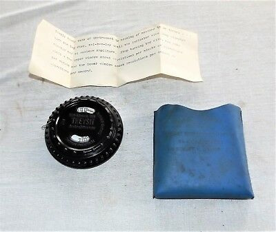 Vibration Tachometer, Treysit Sirometer, West Germany, w/ Pouch and Instructions