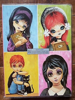 2005 Goth-lcky Plastic Purse Notecards Illustrations from Abrams book Goth-Icky