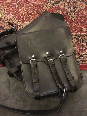Black Leather Saddlebags