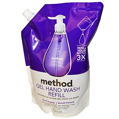 Gel Hand Wash Refill, French Lavender, 34 fl oz (1 L) - Method
