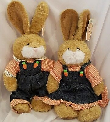 March of Dimes Peaches Paws Plush Bunny Rabbit 2003 Easter Beanbag Stuffed