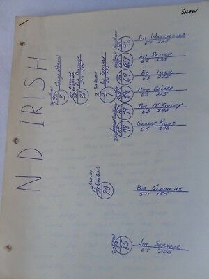 1968 USC vs Notre Dame Football Game: Trojans Gerry Shaw's Defensive Playbook