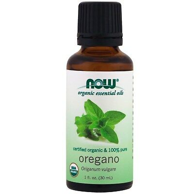 Organic Essential Oils, 100% Pure Oregano Oil, 1 fl oz (30 ml) - Now Foods