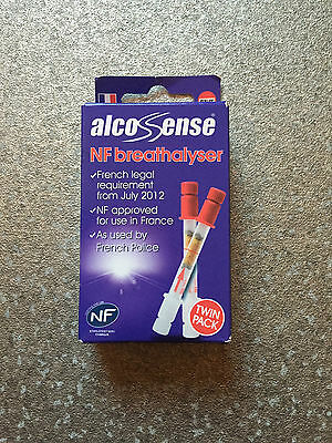 Alcosense TWIN PACK - French NF Approved Breathalyser For Driving In France New