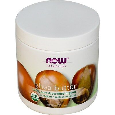 Solutions, Shea Butter, Certified Organic, 7 fl oz (207 ml) - Now Foods