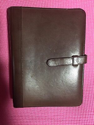 Brown Leather Coach Planner Agenda