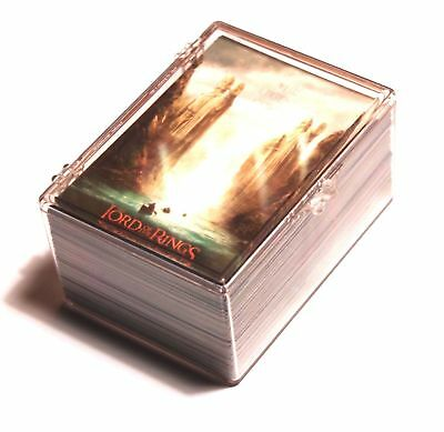 LORD OF THE RINGS 2001:Fellowship of The Ring Gold Embossed:90 Base Card Set NM~