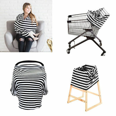 Baby Car Seat Canopy Carrier Nursing Cover Shopping Cart & High Chair Cover