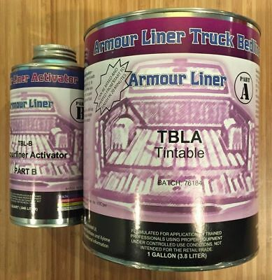 Tintable Armour Liner TBLA Spray in Truck Bed Liner 5 Quart Kit Activator, TBL-B