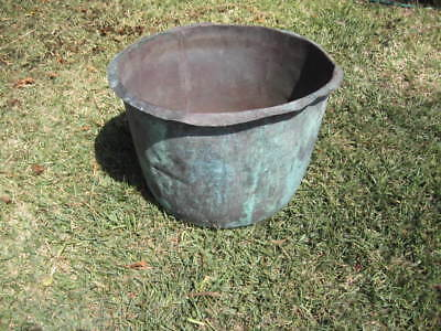 Vintage Metters Copper laundry washing tub, Garden planter.