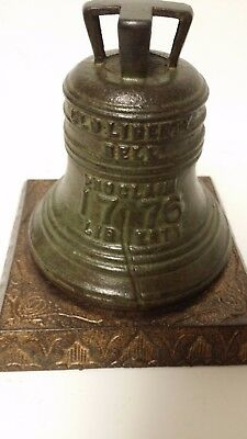 "Antique Cast Iron ""BAILEY'S CENTENNIAL BELL BANK"" by J.S.Semon c1875 *RARE BASE*"