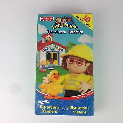 Fisher Price Little People Fun to Learn Collection 10 Stories VHS Kids Family