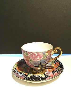 Shelley Cloisonne cup and saucer