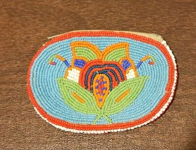 Vintage Beaded Coin Purse Native American Indian, 2 sided