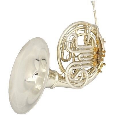 Schiller Elite VI French Horn with Removable Bell - Silver & Gold