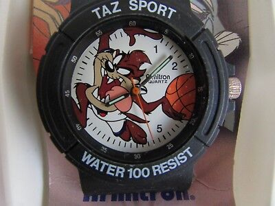 1996 Taz Sport BasketBall Watch New In Box Space Jam Tasmanian Devil