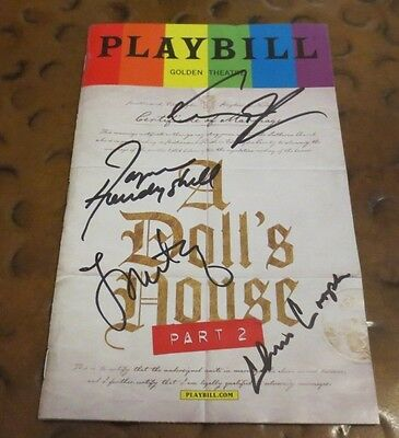 A Doll's House Part 2  Broadway Play Playbill current cast signed autographed