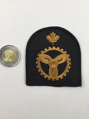 Canadian Military Navy Trades Insignia Patch Marine Engineer Technician
