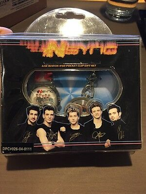 NSYNC LCD Watch and POCKET CLIP Gift Set NIB 2001