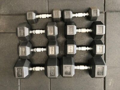 Various fixed dumbbell weights