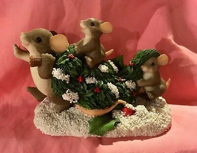 """Charming Tails - Mouse - """"Bringing Home The Tree"""""""