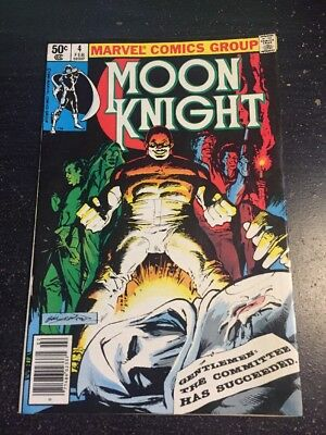 Moon Knight#4 Incredible Condition 8.5(1981) Sienkiewicz Art!!