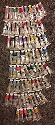 "Winsor Newton Professional Watercolor Lot Of ""76"" Tubes 14ml"