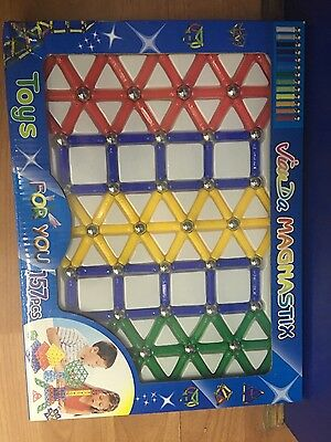 Magnastix Magnetic Building Blocks/Sticks 157pcs set