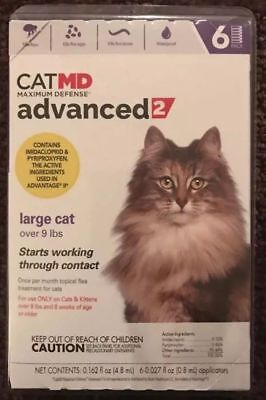 Cat MD Advanced 2 For Large Cat Over 9 Lbs (6 Vials) - Ships Free!