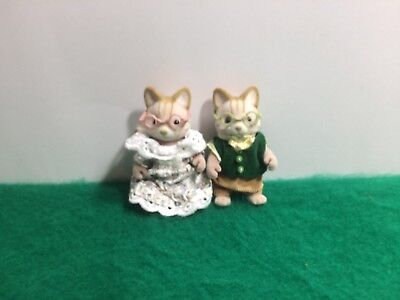 Sylvanian Families RARE VINTAGE MACAVITY CAT GRANDPARENTS