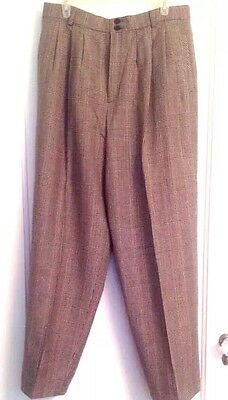 Bridgetown Collection Slacks Women's Size 16 Vintage Glen Plaid Fully Lined Wool