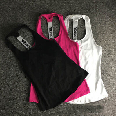 Women Vest Tank Fitness Gym Active Stretch Workout Sleeveless Blouse Top T-Shirt