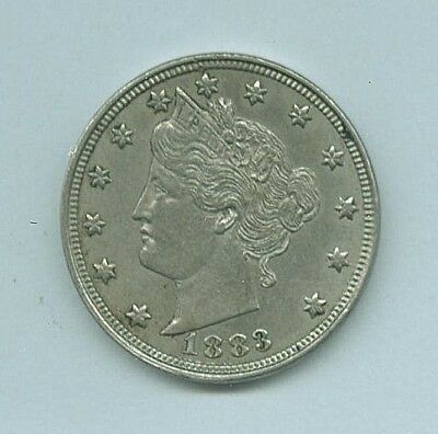 1883p Liberty Head , V Nickle ,  Very Nice   Free S&H   ( No Cents Version )