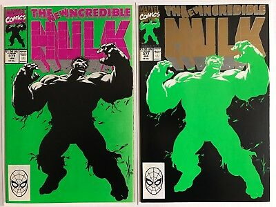 1991 INCREDIBLE HULK # 377, 1st & 2nd Print, Both Near Mint + (9.6), Keown Art!