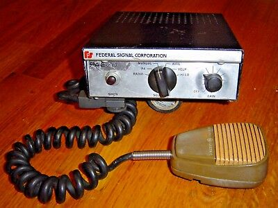 FEDERAL SIGNAL-PA-200 SIREN with Mic