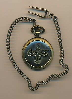 Official Licensed CocaCola Antique Bronze Pocket Watch