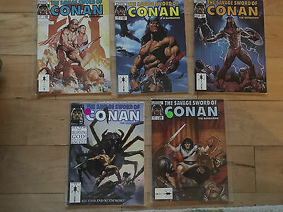 Savage sword of Conan 138, 143, 145, 146, 183 a 5 issue lot all VF to NM