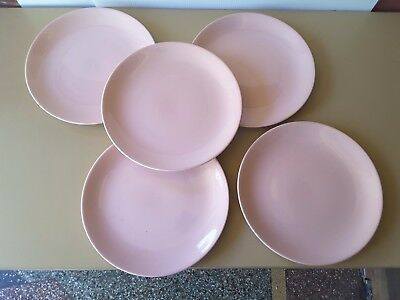 Five Johnson Bros Aust 70's Pink/mauve  Dinner Plate  No Chips Or Cracks