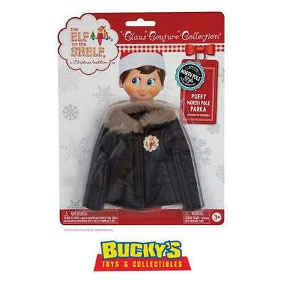 Elf on the Shelf Claus Couture Collection Puffy North Pole Parka Santa Approved