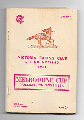 1961 Melbourne Cup Official Programme (Horse Racing)