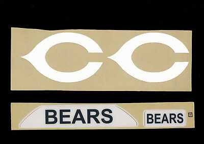 Chicago Bears Throwback Football Helmet Decals - Full Size