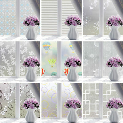 PVC Frosted Glass Window Privacy Self Adhesive Film Sticker Bedroom Bathroom RL9