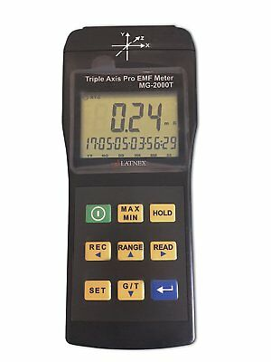 Professional EMI Magnetic Field Gauss Meter Detector Triple Axis MRI Inspections
