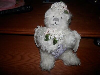 Annette Funicello Starlight Angel Collection White Teddy Bear New In Box With Co