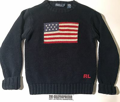 Polo Ralph Lauren Knitted Sweater Kids Boys Sz (7) Youth USA 100% Authentic RL