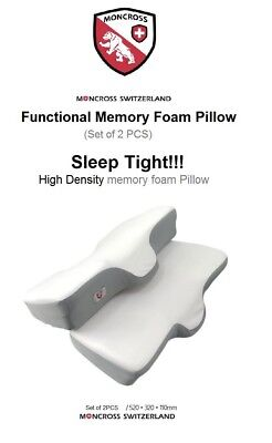 Moncross Functional Memory Foam Pillow with Neck support Set - 2 pillows