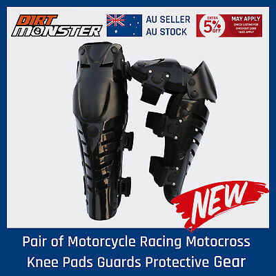 Pair of Motorcycle Racing Motocross Knee Pads Guards Protector Protective Gear