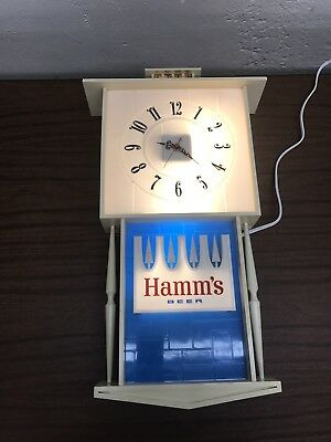 Vintage Hamm's Beer Lighted Clock